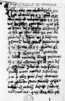 Tractatus de confessione - Formularz bernardyński z początku XVI w.
