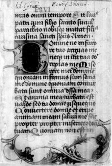 Brewiarz łaciński, fragment o 17 kartach