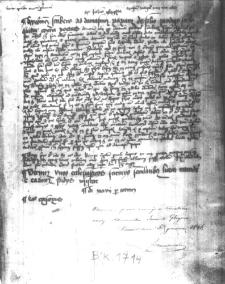 Zapiska Jana z Głogowa, profesora Akademii Krakowskiej